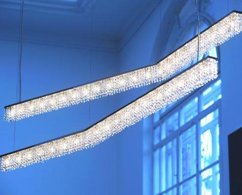私人住宅内的Atoll水晶吊灯, Manooi Crystal Chandeliers