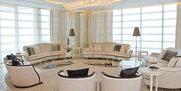 获奖项目的迪拜顶层公寓, Manooi Crystal Chandeliers